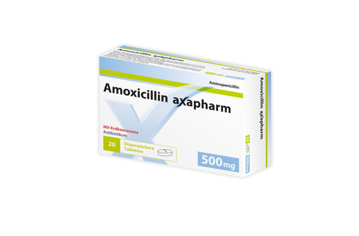Amoxicillin Axapharm 500 mg, 20 dispergierbare Tabletten