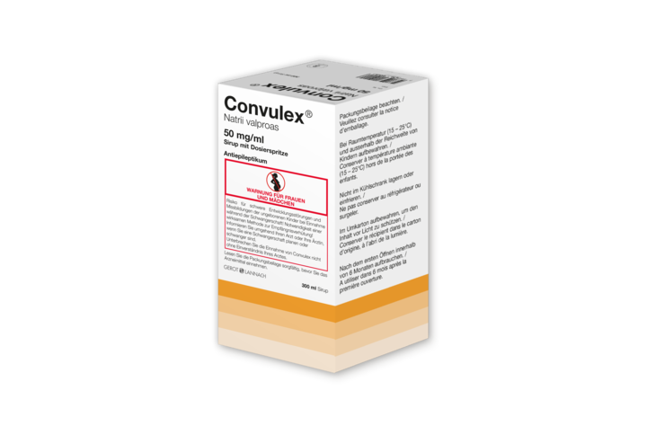 Convulex 50 mg/ml, 300 ml Sirup